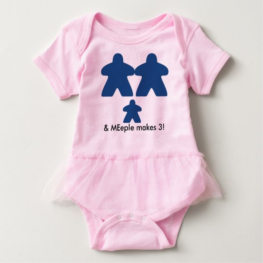 meeple make three baby tutu baby bodysuit