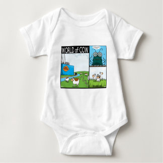 Meercows, fly's contacts and fish poo baby bodysuit