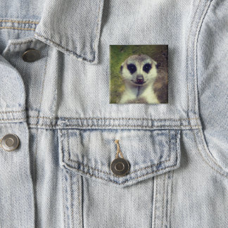 Meerkat 15 Cm Square Badge