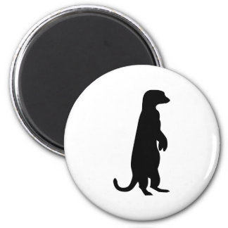 Meerkat 6 Cm Round Magnet
