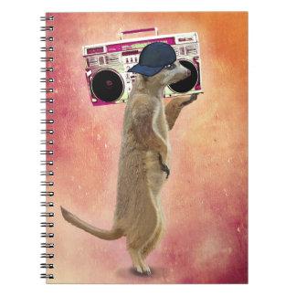 Meerkat and Boom Box Notebooks