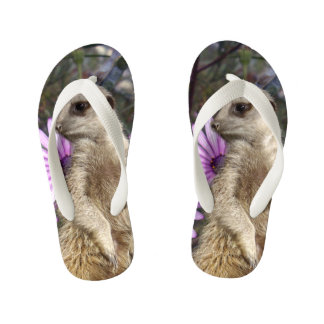 Meerkat And Daisies, Kid's Flip Flops