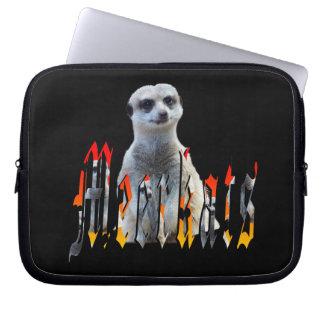 Meerkat And Meerkat Logo 10 inch Laptop Sleeve