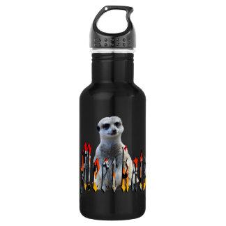 Meerkat And Meerkat Logo, Black Reusable Bottle. 532 Ml Water Bottle