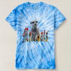 Meerkat And Meerkat Logo, Blue Tie Dye, T-Shirt
