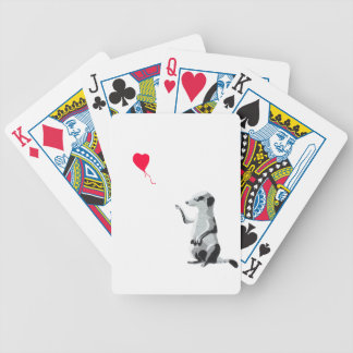 Meerkat and the red balloon bicycle playing cards