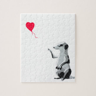 Meerkat and the red balloon jigsaw puzzle