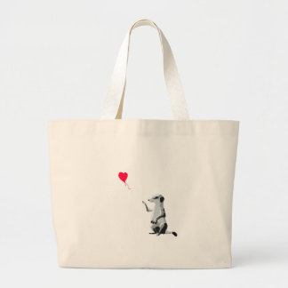 Meerkat and the red balloon jumbo tote bag