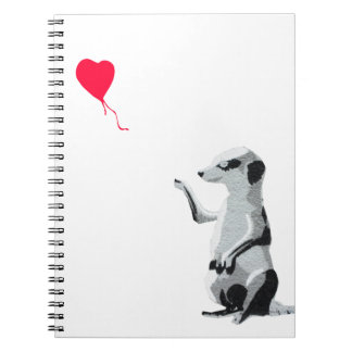 Meerkat and the red balloon spiral notebook