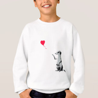 Meerkat and the red balloon sweatshirt