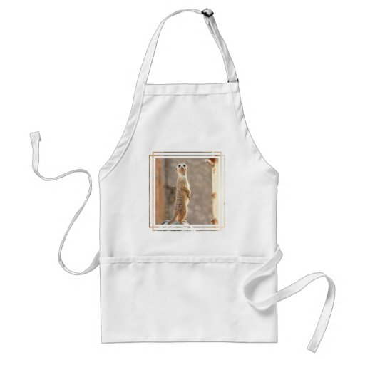 Meerkat at Attention Apron