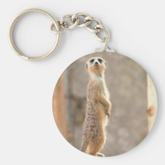 Meerkat at Attention Keychain