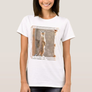 Meerkat at Attention Ladies Fitted T-Shirt