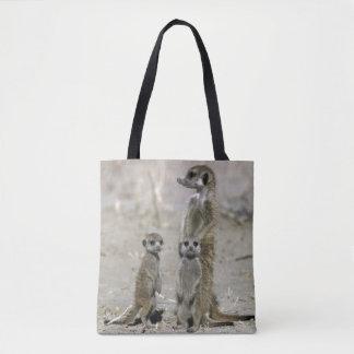 Meerkat Baby Sitter And Pups ( Suricata Suricata ) Tote Bag