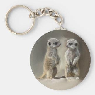 Meerkat baby twins key chains