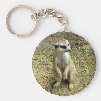 Meerkat Basic Round Button Key Ring