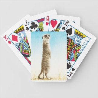 Meerkat Bicycle Playing Cards