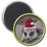 Meerkat Christmas Magnet