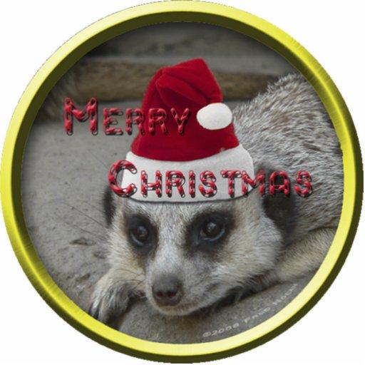 Meerkat Christmas Ornament Acrylic Cut Out