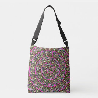 Meerkat Collage Spiral Pattern, Crossbody Bag