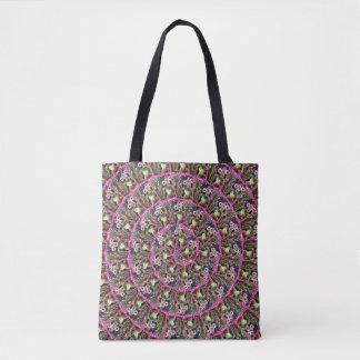 Meerkat Collage Spiral Pattern, Tote Bag