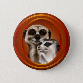 Meerkat Couple-Buttons 6 Cm Round Badge
