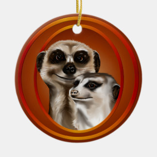 Meerkat Couple-Ornaments Christmas Ornament