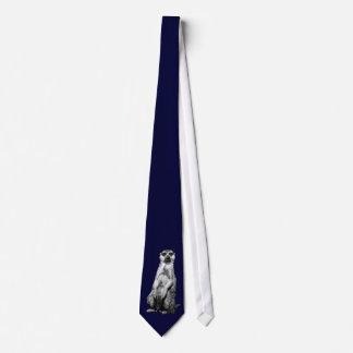 Meerkat Dark Navy Blue Tie