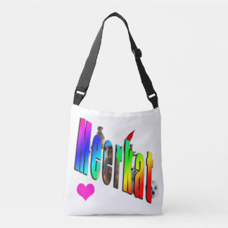 Meerkat Dimensional Logo Crossbody Bag. Crossbody Bag