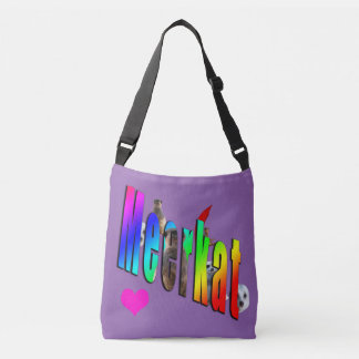 Meerkat Dimensional Logo Purle Crossbody Bag. Crossbody Bag