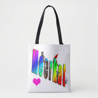 Meerkat Dimensional Logo Shopping Bag. Tote Bag