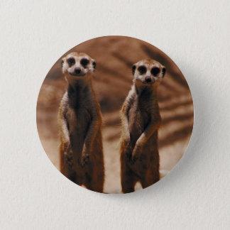 Meerkat Duo 6 Cm Round Badge