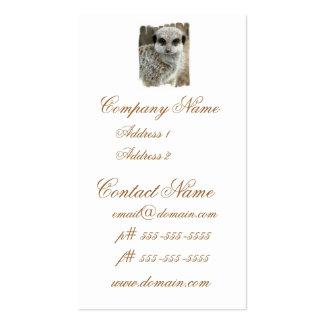 Meerkat Face Busines Card Business Card Template