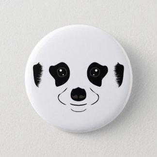 Meerkat face silhouette 6 cm round badge