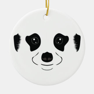 Meerkat face silhouette christmas ornament