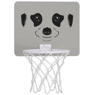Meerkat face silhouette mini basketball hoop