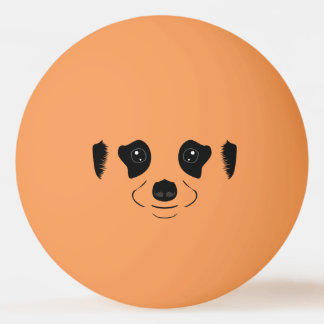 Meerkat face silhouette ping pong ball