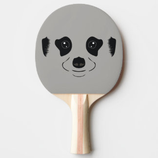 Meerkat face silhouette ping pong paddle