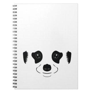Meerkat face silhouette spiral notebook