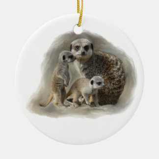 Meerkat family christmas ornament