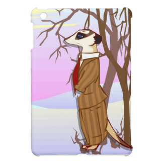 Meerkat family in the snow iPad mini case