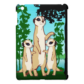 Meerkat family iPad mini cover