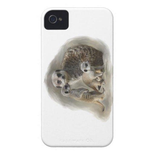 meerkat family iPhone 4 cases