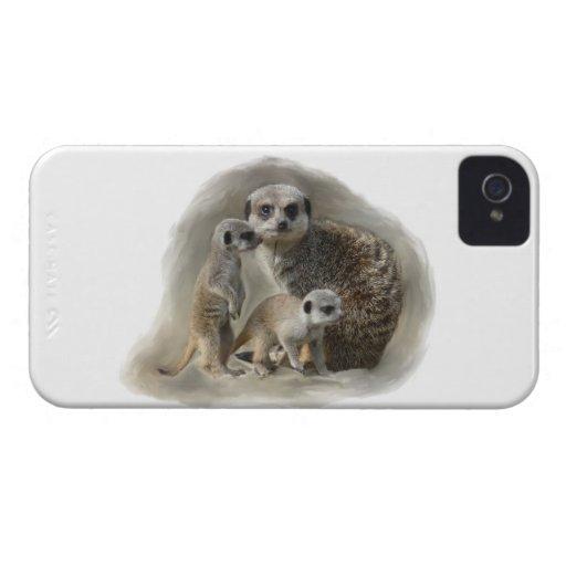 meerkat family iPhone 4 covers