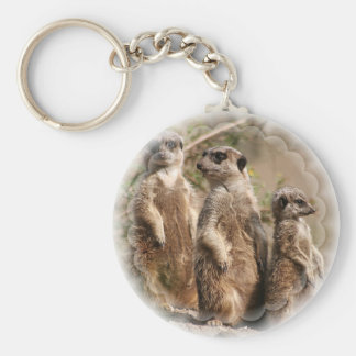 Meerkat Family Keychain