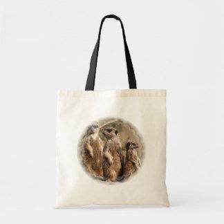 Meerkat Family Tote Bag