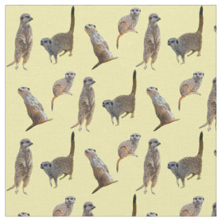 Meerkat Frenzy Fabric (Yellow)
