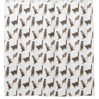 Meerkat Frenzy Shower Curtain (choose colour)