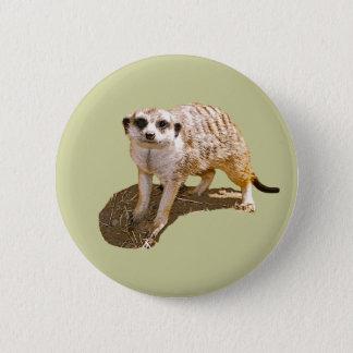 Meerkat Gift 6 Cm Round Badge