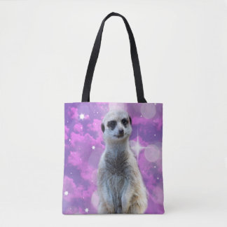 Meerkat_Glitter-Ball,_Full_Print_Shopping_Bag Tote Bag